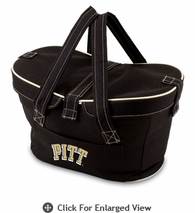 Picnic Time Mercado Basket - Black University of Pittsburgh Panthers