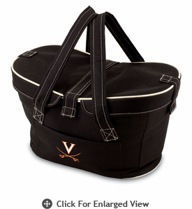 Picnic Time Mercado Basket - Black University of Virginia Cavaliers