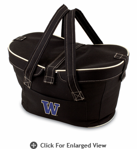 Picnic Time Mercado Basket - Black University of Washington Huskies