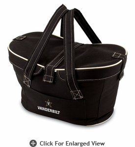 Picnic Time Mercado Basket - Black Vanderbilt University Commodores
