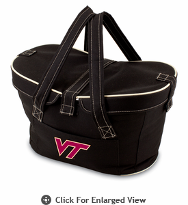 Picnic Time Mercado Basket - Black Virginia Tech
