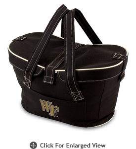 Picnic Time Mercado Basket - Black Wake Forest Demon Deacons