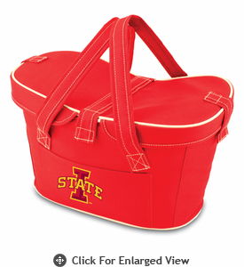 Picnic Time Mercado Basket - Red Iowa State Cyclones