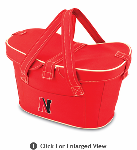 Picnic Time Mercado Basket - Red Northeastern University Huskies