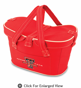 Picnic Time Mercado Basket - Red Texas Tech Red Raiders