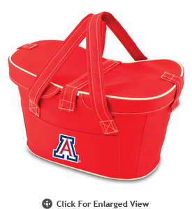 Picnic Time Mercado Basket - Red University of Arizona Wildcats