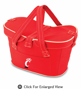 Picnic Time Mercado Basket - Red University of Cincinnati Bearcats