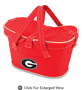 Picnic Time Mercado Basket - Red University of Georgia Bulldogs