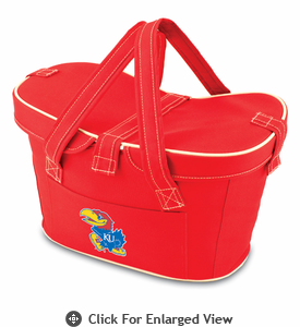 Picnic Time Mercado Basket - Red University of Kansas Jayhawks