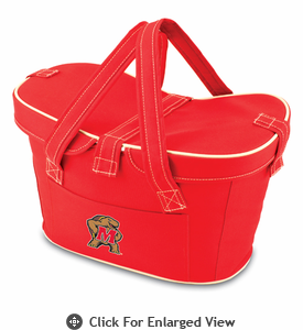 Picnic Time Mercado Basket - Red University of Maryland Terrapins