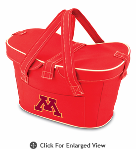 Picnic Time Mercado Basket - Red University of Minnesota Golden Gophers