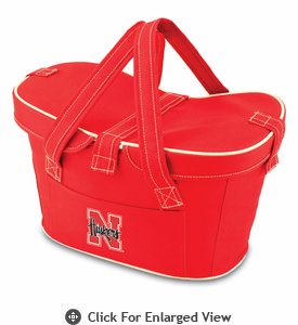Picnic Time Mercado Basket - Red University of Nebraska Cornhuskers