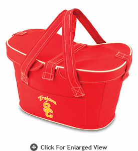 Picnic Time Mercado Basket - Red USC Trojans