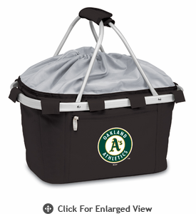 Picnic Time Metro Basket - Black Oakland Athletics