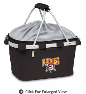 Picnic Time Metro Basket - Black Pittsburgh Pirates