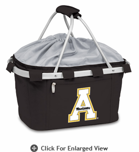 Picnic Time Metro Basket Digital Print - Black Appalachian State Mountaineers