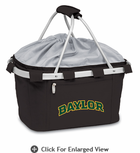 Picnic Time Metro Basket Digital Print - Black Baylor University Bears