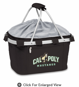 Picnic Time Metro Basket Digital Print - Black Cal Poly Mustangs