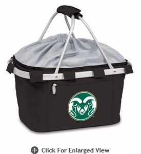 Picnic Time Metro Basket Digital Print - Black Colorado State Rams