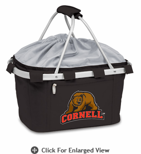 Picnic Time Metro Basket Digital Print - Black Cornell University Bears