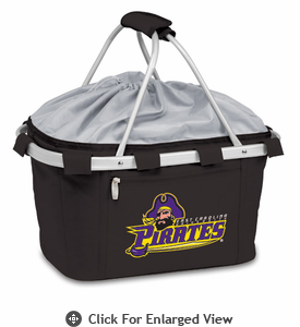 Picnic Time Metro Basket Digital Print - Black East Carolina Pirates