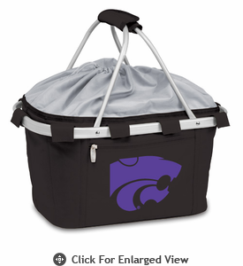 Picnic Time Metro Basket Digital Print - Black Kansas State Wildcats