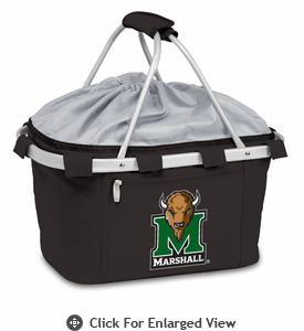 Picnic Time Metro Basket Digital Print - Black Marshall University Thundering Herd