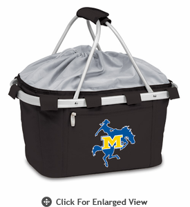 Picnic Time Metro Basket Digital Print - Black McNeese State Cowboys