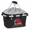 Picnic Time Metro Basket Digital Print - Black Miami University Red Hawks