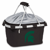 Picnic Time Metro Basket Digital Print - Black Michigan State Spartans