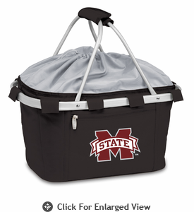 Picnic Time Metro Basket Digital Print - Black Mississippi State Bulldogs
