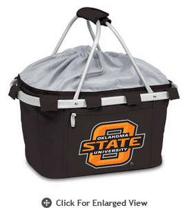 Picnic Time Metro Basket Digital Print - Black Oklahoma State Cowboys