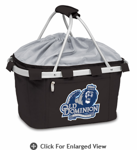 Picnic Time Metro Basket Digital Print - Black Old Dominion Monarchs