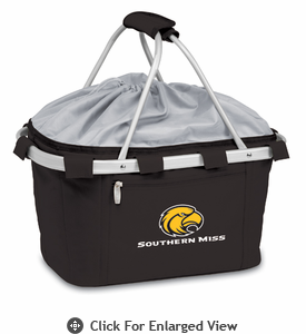 Picnic Time Metro Basket Digital Print - Black Southern Miss Golden Eagles