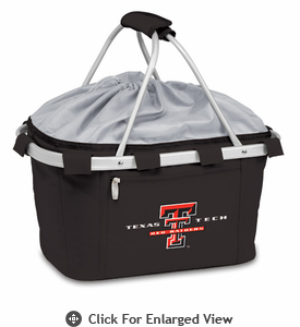 Picnic Time Metro Basket Digital Print - Black Texas Tech Red Raiders