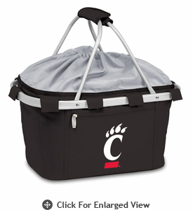 Picnic Time Metro Basket Digital Print - Black University of Cincinnati Bearcats