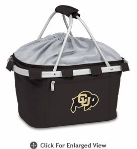 Picnic Time Metro Basket Digital Print - Black University of Colorado Buffaloes