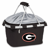 Picnic Time Metro Basket Digital Print - Black University of Georgia Bulldogs