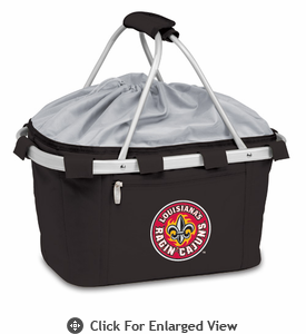 Picnic Time Metro Basket Digital Print - Black University of Louisiana Ragin Cajuns