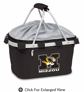 Picnic Time Metro Basket Digital Print - Black University of Missouri Tigers
