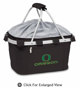 Picnic Time Metro Basket Digital Print - Black University of Oregon Ducks