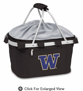 Picnic Time Metro Basket Digital Print - Black University of Washington Huskies