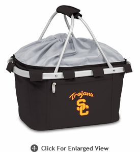 Picnic Time Metro Basket Digital Print - Black USC Trojans