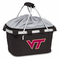Picnic Time Metro Basket Digital Print - Black Virginia Tech Hokies