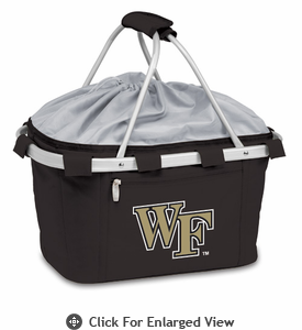 Picnic Time Metro Basket Digital Print - Black Wake Forest Demon Deacons