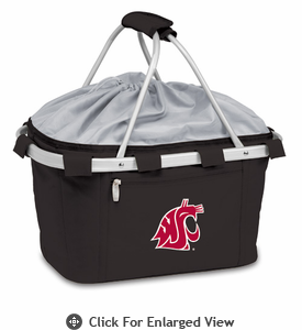 Picnic Time Metro Basket Digital Print - Black Washington State Cougars
