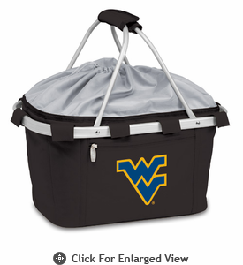 Picnic Time Metro Basket Digital Print - Black West Virginia University Mountaineers