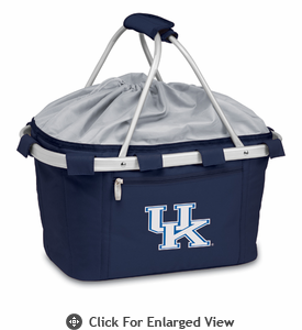 Picnic Time Metro Basket Digital Print - Navy University of Kentucky Wildcats