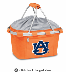 Picnic Time Metro Basket Digital Print - Orange Auburn University Tigers