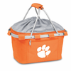 Picnic Time Metro Basket Digital Print - Orange Clemson University Tigers